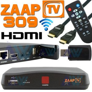 Arabic Turkish Greek Channels Zaap TV HD 309 w/ WiFi Dongle