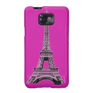 Fuchsia Eiffel Tower Phone Cases and Covers Galaxy S2 Covers