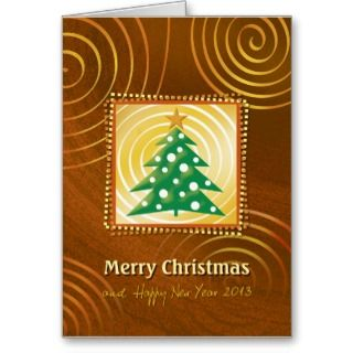 Modern design   Merry Christmas and Happy New Year 2013 Greeting Card