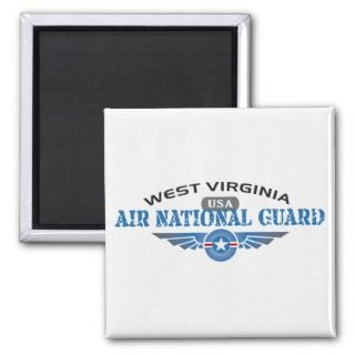 West Virginia Air National Guard Fridge Magnets