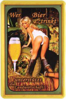 Sexy Girl Retro Blechschild 20x30 cm Reklame Metallschild 310