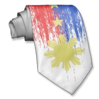 Abstract Flag of the Philippines Tie
