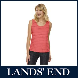 LANDS END Damen Sommer Jersey Top Tanktop Shirt T Shirt ärmellos