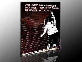 Banksy Graffiti Street Art Bild auf leinwand 100x70cm Wandbilder k