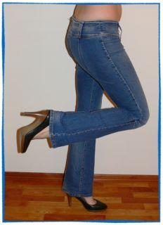 MISS SIXTY Hüft Jeans NIXIE ONE Flare MITTELBLAU WASCHUNG Weiß extra