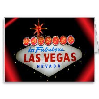 Married in Fabulous Las Vegas Wedding Invitations Card