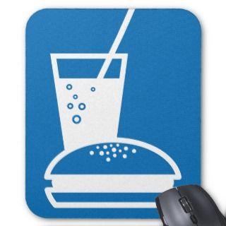 burger and lemonade blue taste explosion mousepads