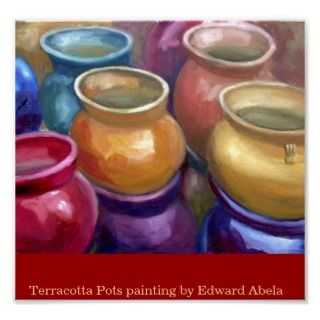 Terracotta pots at a store in Tatum Arizona oil painting by award