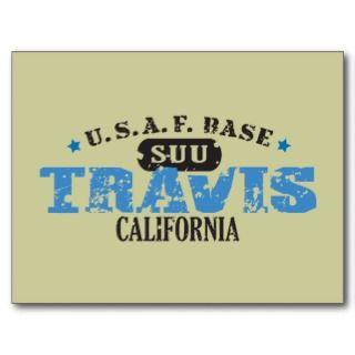 Air Force Base   Travis, California Post Card
