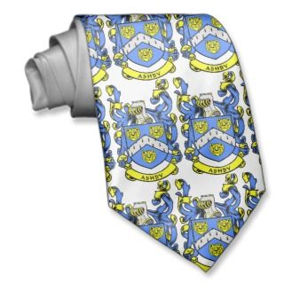 ASHBY Family Crest, ASHBY Family Crest, ASHBY FNecktie