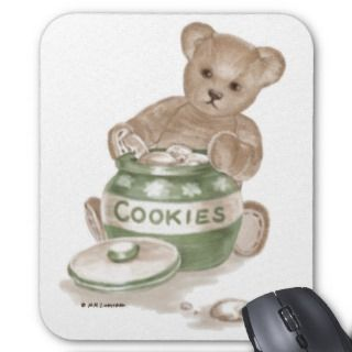 Teddy Bear Cookie Jar Mousepads