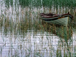 Dinghy Lady Loretta, Lough Conn, Ireland Photographic Print by Holger Leue