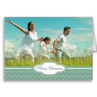 Merry Christmas Zig Zag Pattern Your Photo Cards