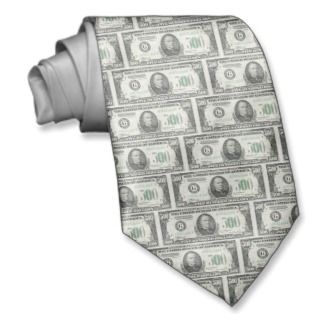 500 Dollar Bill Neckwear