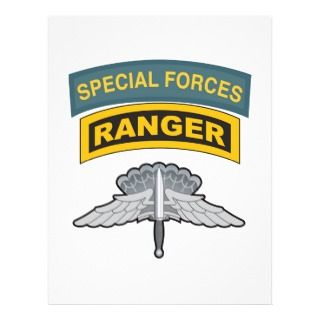 HALO Wings Special Forces/Ranger Tabs Personalized Flyer