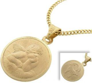 Engel Anhänger m.STERNZEICHEN 333 Gold mit o.ohne Kette