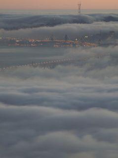 Fog Bank from the Berkeley Hills, San Francisco Bay, California Photographic Print by Josh Anon