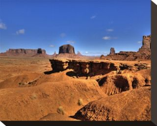 Monument Valley J. Ford Point Stretched Canvas Print by Richard Desmarais