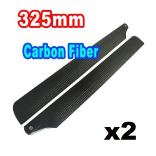 4x 325mm Real Carbon Main Blade for Trex 450 series Helicopter
