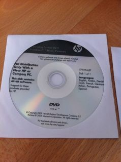 HP 325 326 625 Recovery DVDs Windows 7 Home Premium 64