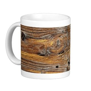 Wood grain, sheet of weathered timber mug