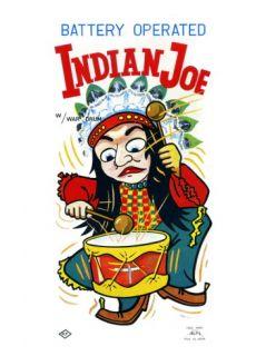 Battery Operate Indian Joe Wall Decal