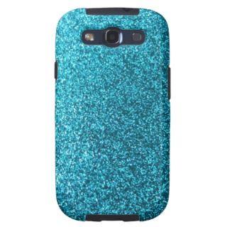 Faux Blue Glitter Samsung Galaxy S3 Case