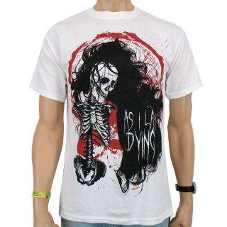 As I Lay Dying   Skull Locks Band T Shirt, white Sport