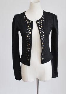 DJY08 New Stylish Hot Lady Decorative Rivets Career Blazer Shrug Coat