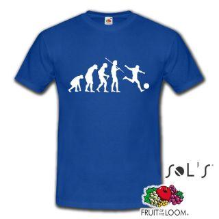 Evolution Fussball Soccer Sport EM WM Fun T Shirt Herren   versch