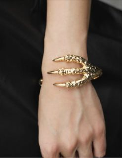 Fashion New Cool Lifelike Talon Bangle Eagle Claw Clamp Bracelet