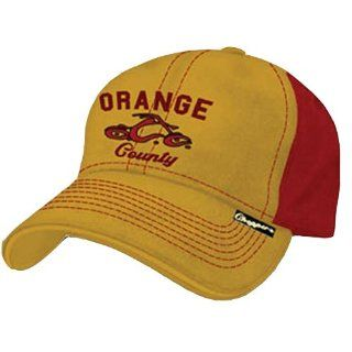 OCC   Logo Orange Red Retro Col Baseball Cap Musik