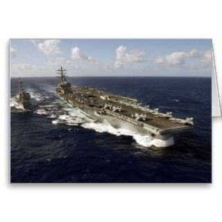 Navy Aircraft Carrier USS Ronald Reagan Greeting Card