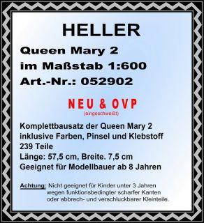 Heller 052902 Queen Mary 2, 1600, anspruchsvoller Bausatz, NEU & OVP