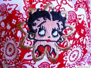 NEU! Betty Boop Kleid Sommerkleid Baumwolle rot weiß Gr. 98, 104