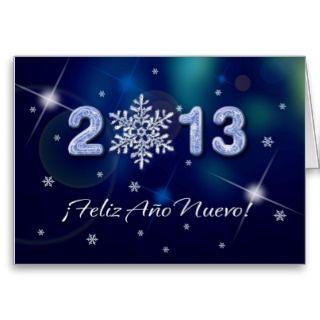 Feliz Año Nuevo 2013. Spanish Greeting Card cards by artofmairin
