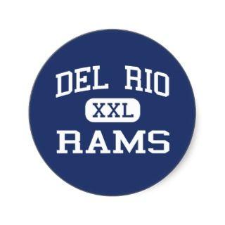 Del Rio   Rams   High School   Del Rio Texas Stickers