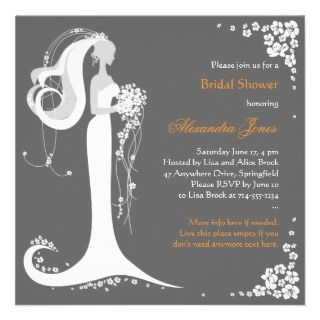 Elegant Bride Bridal Shower Party Announcement