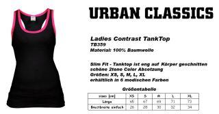 URBAN CLASSICS DAMEN LADIES CONTRAST TANKTOP T SHIRT TOP SHIRT 6