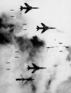 Vietnam War (B 66 and F 105s Bombing Vietnam) Photo Poster Print Masterprint
