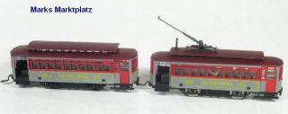 H0 2tlg. US Straßenbahn 354 Municipal RY. AHM TOP
