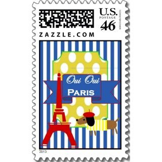 Oui Oui Paris Eiffel Tower stamps by BellaBellaStudios