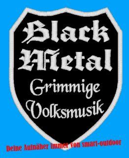 Patch Heavy Black Metal Gothic Punk Aufnäher Wappen