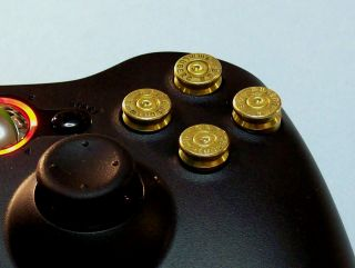 ORIGINAL XBOX 360 CONTROLLER BULLET   EDITION + LED