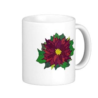Cup of Christmas Cheer poinsettia coffee mug