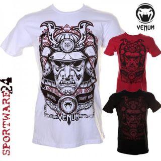 Venum Samurai Mask T Shirt schwarz weiß rot S M L XL XXL MMA UFC