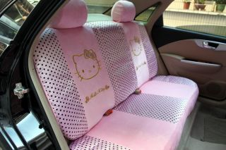 Neu Hello Kitty AUTO Sitzbezüge Schonbezüge 10Teile 062