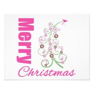 Merry Christmas Whimsical Tree Custom Invite