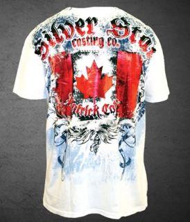 Patrick PREDATOR Cote UFC 113 Silver Star T shirt WHITE