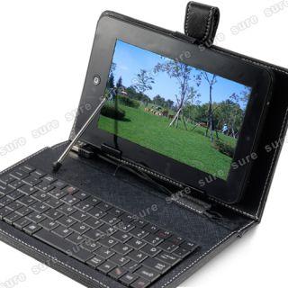 Kunstleder Tasche Case Huelle Cover mit Tastatur fuer 7 Zoll ePad aPad